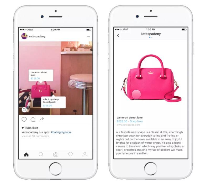 Tasto shopping instagram