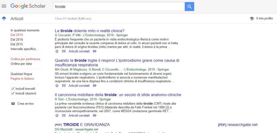 Guida a Google Scholar