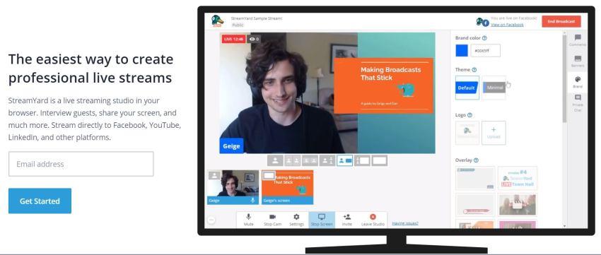 StreamYard per live streaming